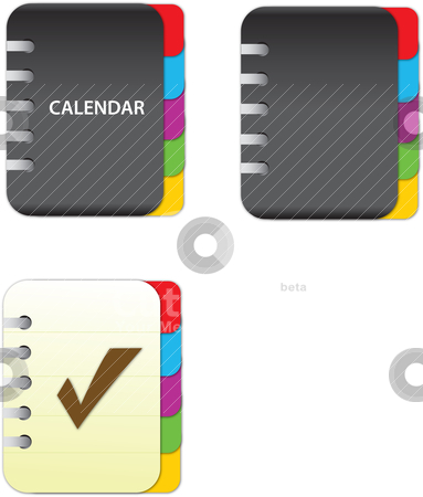 Calendar stock vector clipart,  by Tobias Bj?