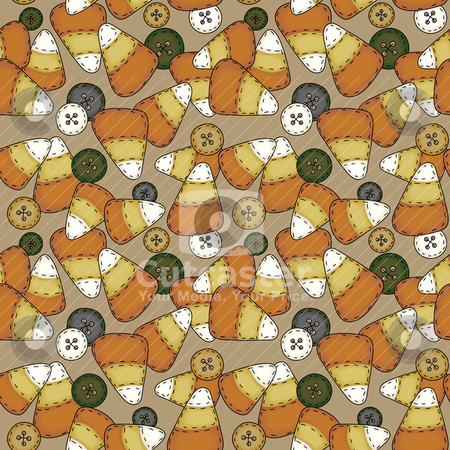 Seamless Folk Art Candy Corn stock vector clipart, A seamless tile in folk art style   Preview shows four tiles together.   file utilizes simple 8-step blends by Neeley Spotts