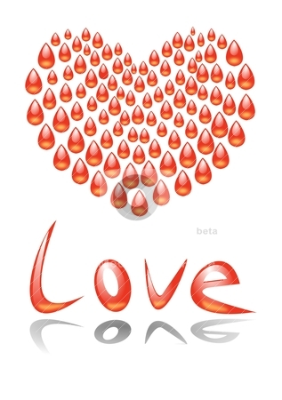 Heart blood stock vector clipart, Heart blood by Katarzyna Bruniewska-Gierczak