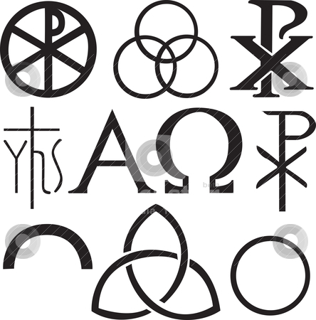 Set of christian symbols stock vector