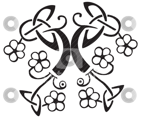 Vector on Celtic Flower Design Vector Illustration   Download Black Royalty Free