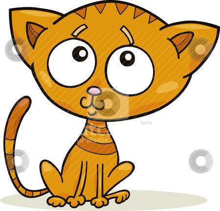 Cute kitten stock vector clipart, Cartoon illustration of cute little kitten by Igor Zakowski