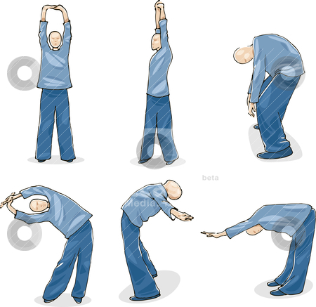 Man Practice Tai Chi stock vector clipart, Illustration of Man Practice Tai Chi Warm-up by Igor Zakowski