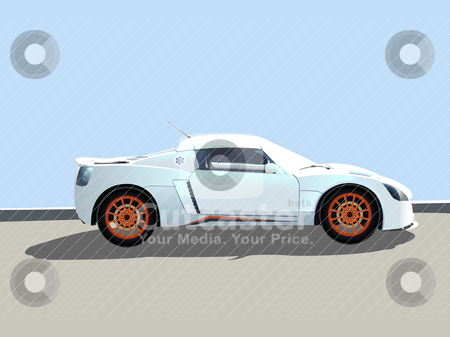 Sport car  illustration stock vector clipart, sport car  illustration by Laschon Robert Paul