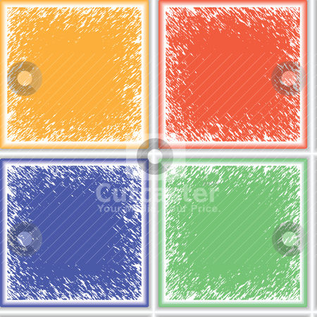 Grunge ceramic seamless texture stock vector clipart, grunge ceramic seamless texture by Laschon Robert Paul