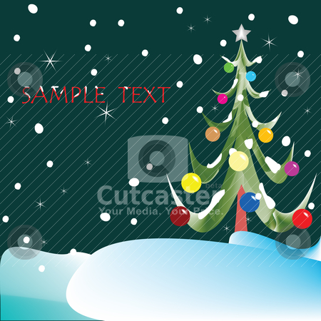 Christmas tree composition stock vector clipart, christmas tree composition by Laschon Robert Paul
