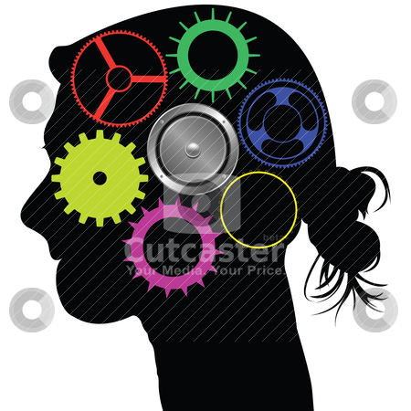 Brain mechanism stock vector clipart, brain mechanism by Laschon Robert Paul