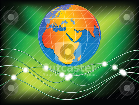 World communication stock vector clipart, world communication by Laschon Robert Paul