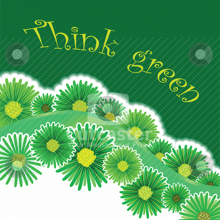 Green background stock vector clipart, green background by Laschon Robert Paul