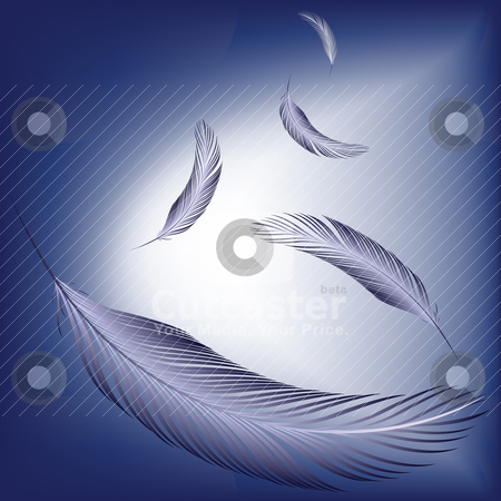 Feathers in the wind stock vector clipart, feathers in the wind by Laschon Robert Paul