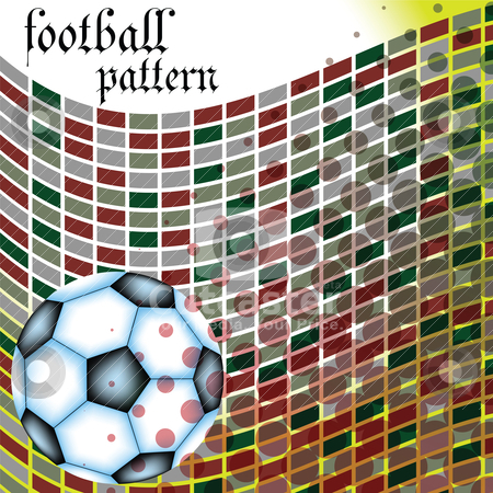 Football abstract pattern stock vector clipart, football abstract pattern by Laschon Robert Paul