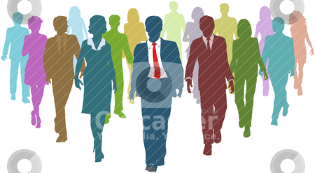 Business people diverse human resources team leader stock vector