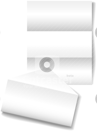 letter envelope to from. Open folded letter envelope as