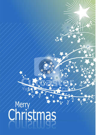 Blue abstract Christmas background with white snowflakes stock vector clipart, Blue abstract Christmas background with white snowflakes by Leonid Dorfman