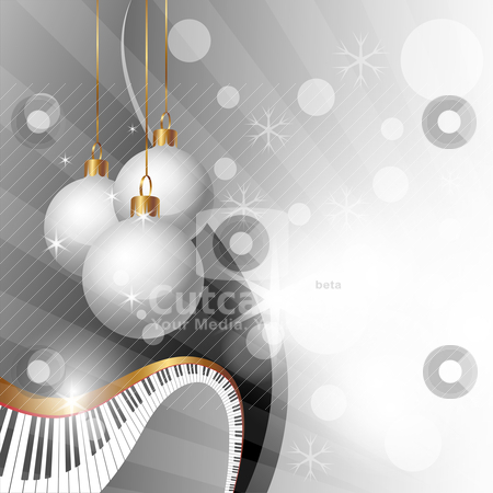 Christmas background  stock vector clipart, Magic Christmas and Music Background, vector illustration by th12