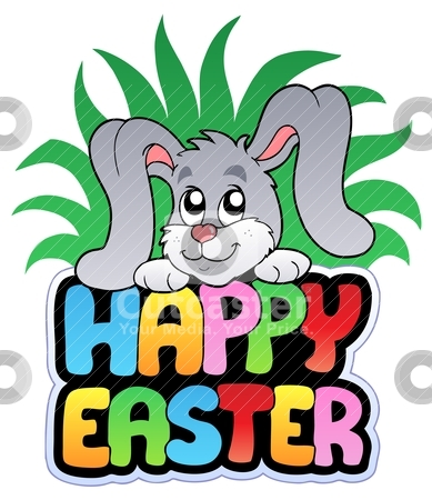 cute happy easter images. Happy Easter sign with cute