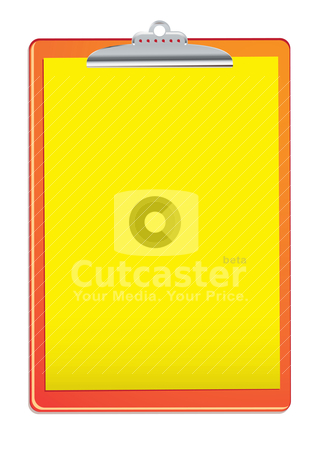 Bright clipboard stock vector clipart, orange and yellow fire clipboard with white background and copyspace by Michael Travers