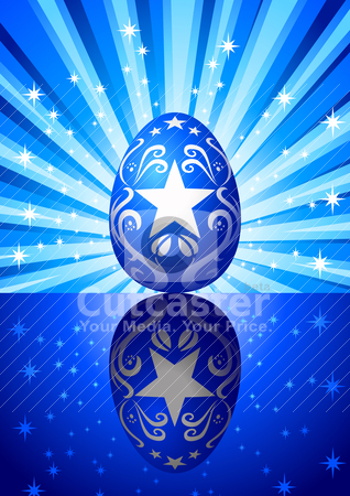 Easter Egg stock vector clipart, Vector illustration of Easter egg by Rudolf Iskandar