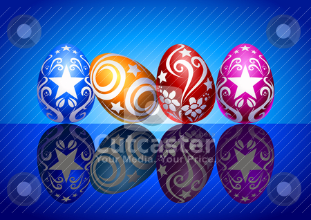 Easter Eggs stock vector clipart, Vector illustration of Easter eggs by Rudolf Iskandar