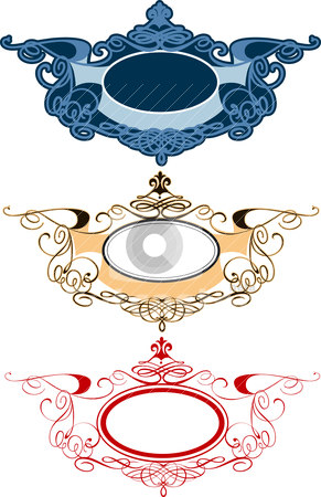 Decorative Ornament Labels stock vector clipart, Set Of Decorative Ornament Labels, editable vector illustration by juland