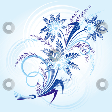 Bouqet Of Winter Flowers stock vector clipart, Bouqet Of Winter Flowers, editable vector illustration by juland