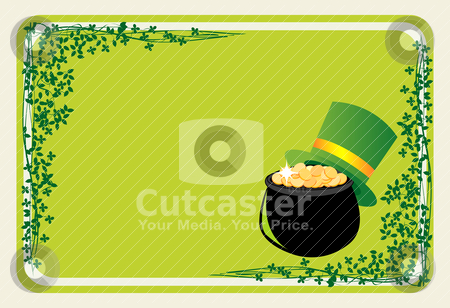St Patrick banner  stock vector clipart, Banner for St Patrick's Day by Richard Laschon