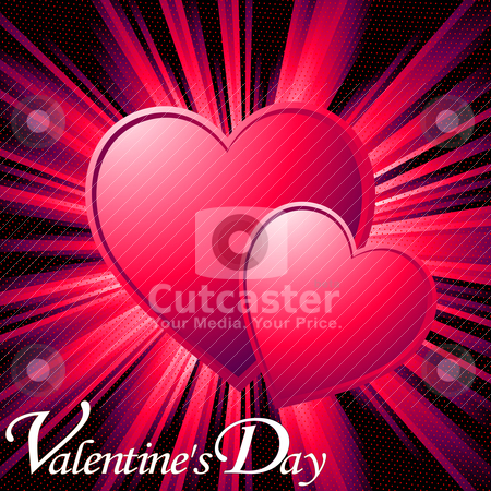 Valentine card stock vector clipart, Valentine card illustration, no mesh or transparency by Richard Laschon