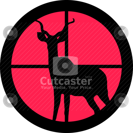 In the Scope Series - Kudu / Koedoe stock vector clipart, In the scope series - Kudu / Koedoe in the crosshair of a gun's telescope. Can be symbolic for need of protection, being tired of, intolerance or being under investigation. by Snap2Art
