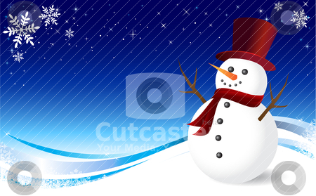 Christmas Snowman stock vector clipart, Vector illustration, all elements are editable. by Bagiuiani Kostas