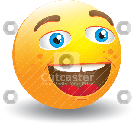 Laughing Smiley Face stock vector clipart, Vector illustration. It can be scaled or resized as you like, all ellements ar editable. by Bagiuiani Kostas