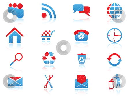 Web icons stock vector clipart, Set of vector icons for web design by Vladimir Gladcov