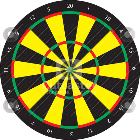 Darts target vector stock vector clipart, Darts target vector by Adrian Bud