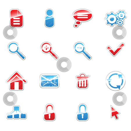 Label icons stock vector clipart, Label icon set for web design (set 2) by Vladimir Gladcov
