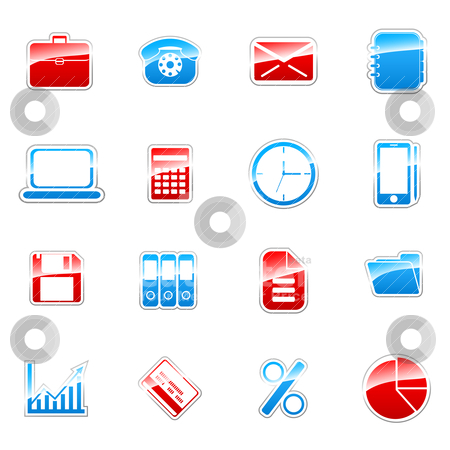 Label icons stock vector clipart, Label icon set for web design (set 3) by Vladimir Gladcov