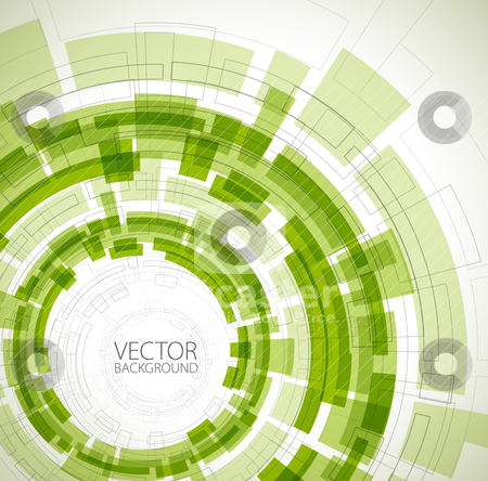 Abstract green technical background stock vector clipart, Abstract green technical background with place for your text by orson