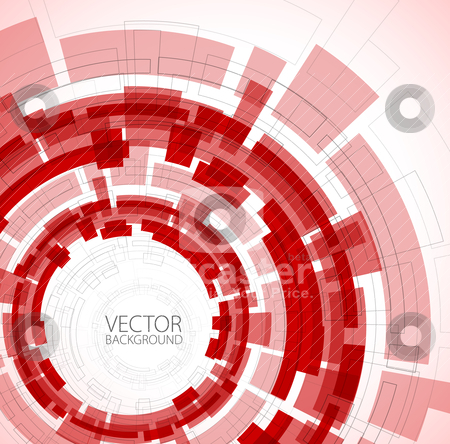 Abstract red technical background stock vector clipart, Abstract red technical background with place for your text by orson