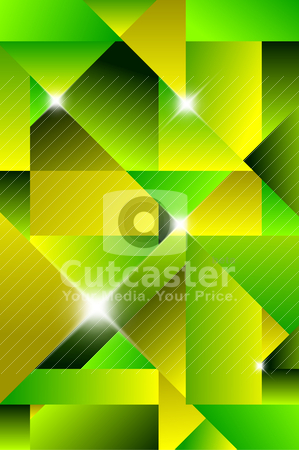 ... clipart, Cubism modern abstract background - green and yellow by orson