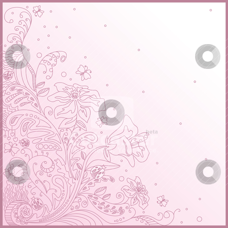 Lovely greeting card stock vector clipart, lovely greeting card with free place for your text by SelenaMay