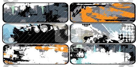 Collection of grunge banners stock vector clipart, Collection of grunge banners, vector illustration by SelenaMay