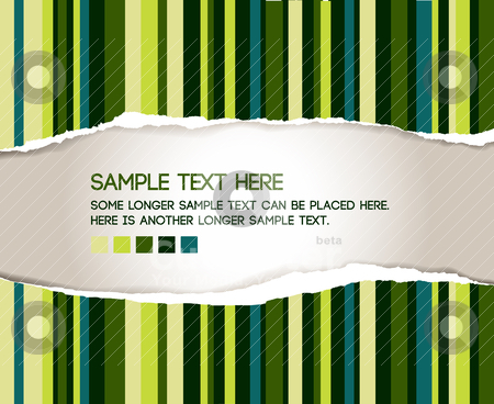 Vector ripped paper stock vector clipart, Vector ripped paper - abstract background by orson