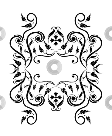 Royal floral frame stock vector clipart, royal floral frame vector illustration by SelenaMay