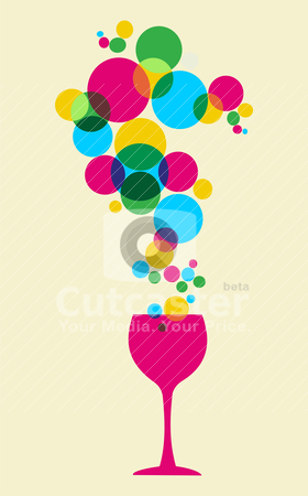 Glass and bubbles pattern stock vector clipart, Multicolored splash bubbles and glass background. Vector available by Cienpies Design