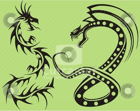 Tribal tattoo  stock vector clipart, tribal tattoo  by Eddy Sophian