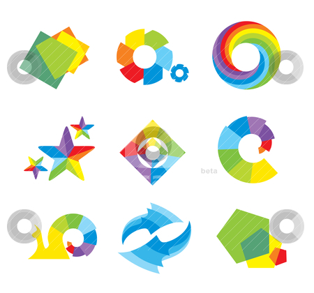 Set of design elements stock vector clipart, set of design elements, abstract icons by SelenaMay