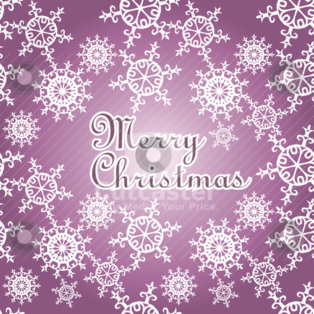 Christmas card illustration stock vector clipart, christmas card illustration with snowflakes by SelenaMay