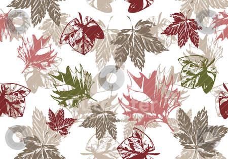 Seamless grunge autumn background stock vector clipart, seamless grunge autumn background illustration by SelenaMay