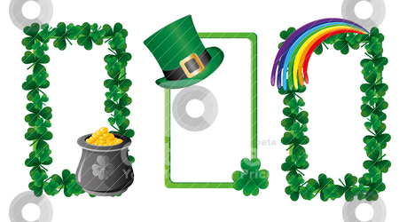 St. Patrick`s day banners stock vector clipart, Set of St. Patrick`s day banners, part 6, vector illustration by Mykhaylo Kushch