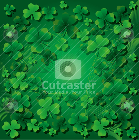 St. Patrick`s day background stock vector clipart, Background with clovers for St.Patrick`s day, vector illustration Find one Happy Four-leafed clover/ by Mykhaylo Kushch