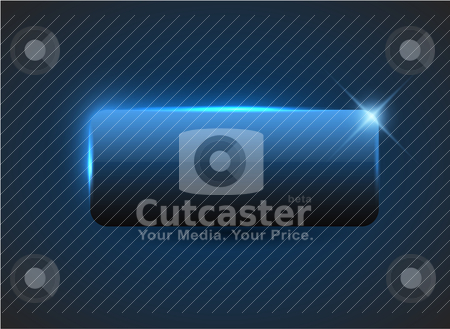 Empty blue button stock vector clipart, Empty blue button with nice light effects by orson