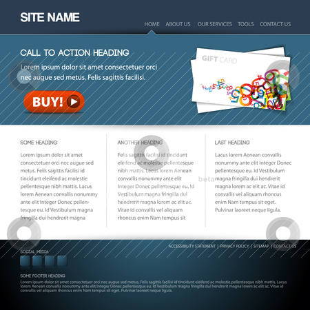 Modern website template stock vector clipart, Modern website template with nice button by orson